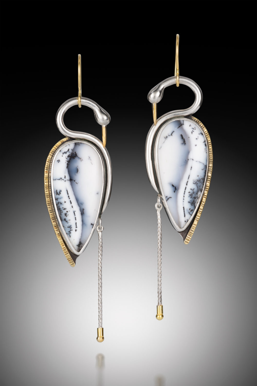 NISA Jewelry Snow Heron Earrings