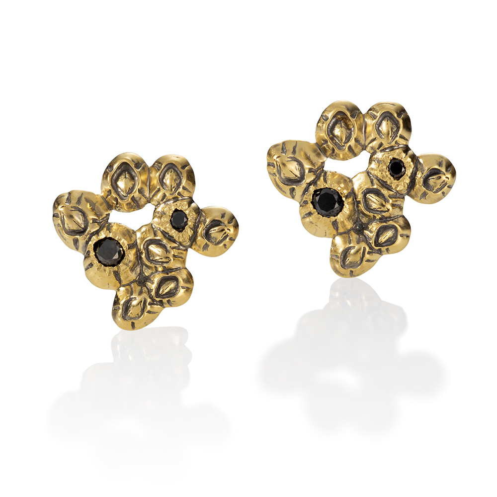 NISA Jewelry barnacle cluster earrings