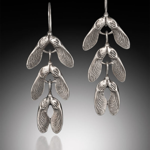 NISA Jewelry Samara Cascade Earrings in silver