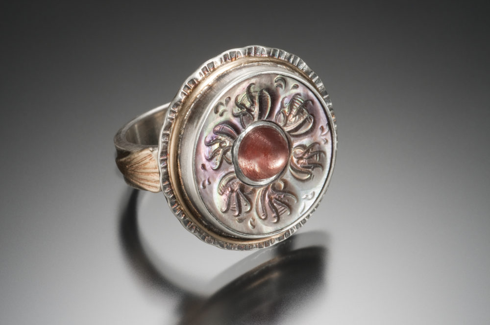 NISA Jewelry Radiant Sunstone Ring