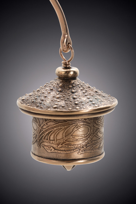NISA Jewelry Bronze Urchin Bell detail