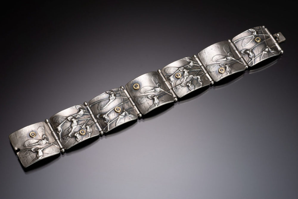NISA Jewelry Samara Panel bracelet with black diamonds