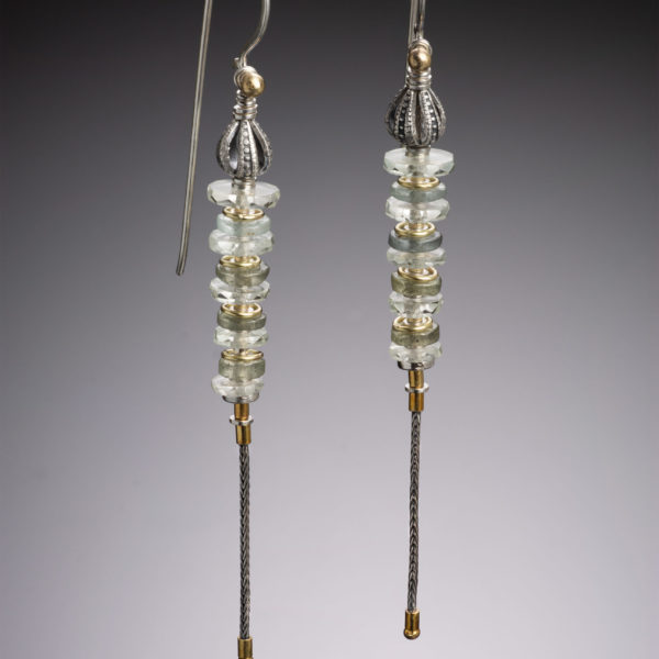 NISA Jewelry, prasiolite earrings