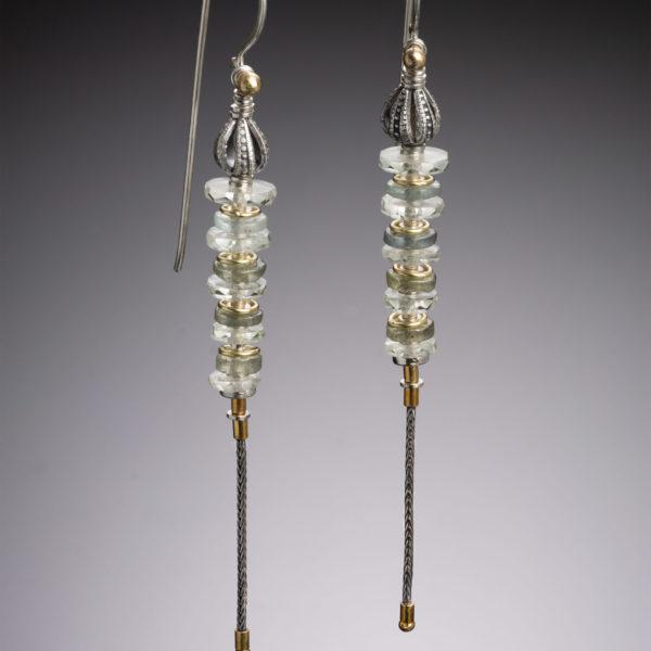 NISA Jewelry, prasiolite earrings