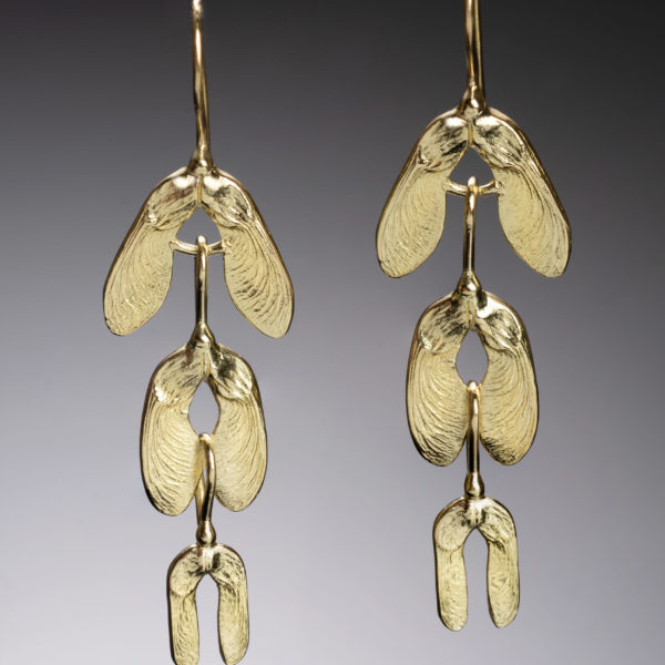 NISA Jewelry Samara Cascade Earrings, gold