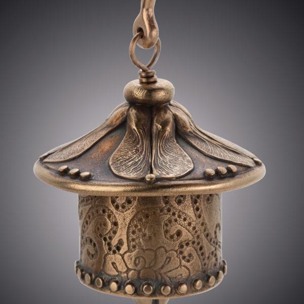 NISA Jewelry Bronze Samara Bell detail