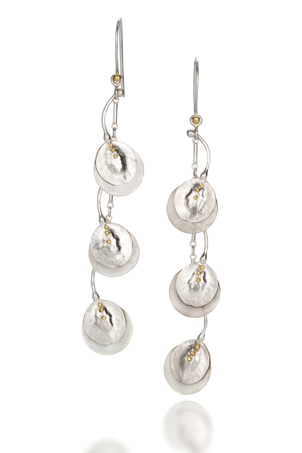 NISA Jewelry Moon Pod Earrings on white
