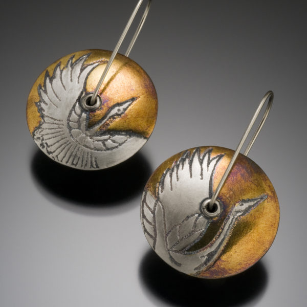 NISA Jewelry Sweeping Crane Earrings