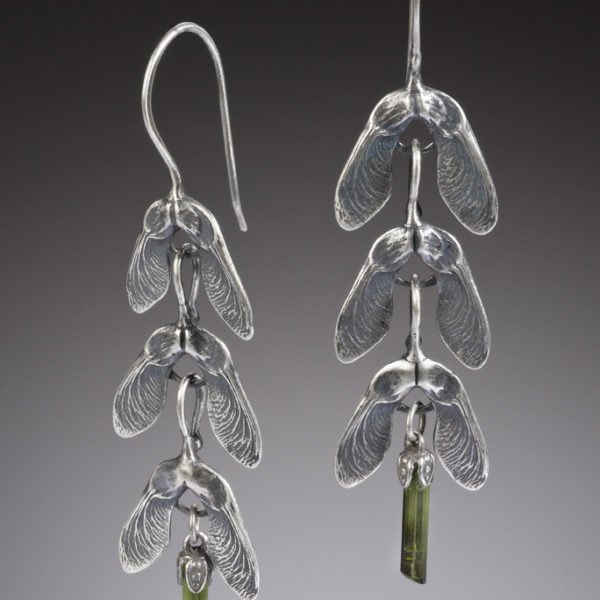NISA Jewelry Samara and Tourmaline Crystal Earrings