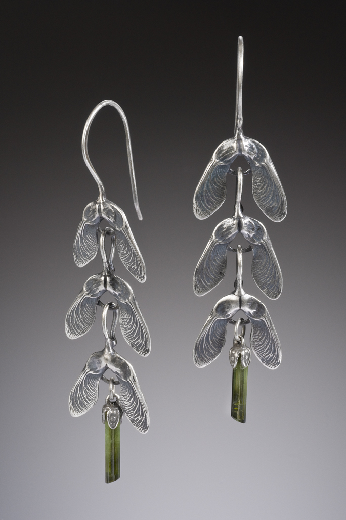 NISA Jewelry Samara and Tourmaline Crystal Earrings
