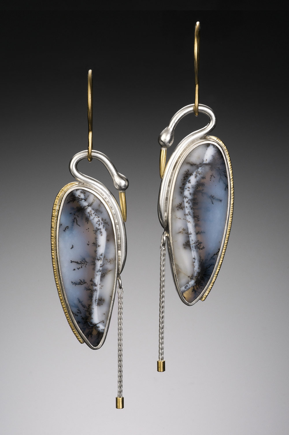 NISA Jewelry Original Snow Heron Earrings