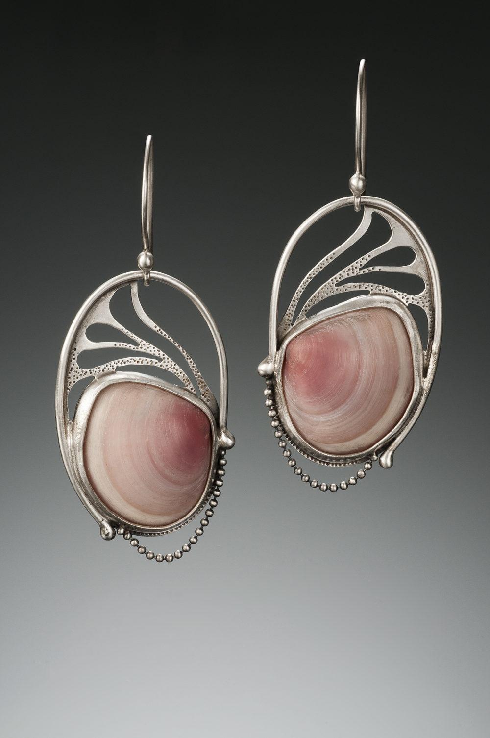 NISA Jewelry Pink Shell Earrings