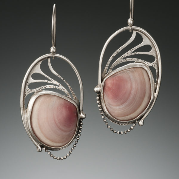 NISA Jewelry Pink Shell Earrings