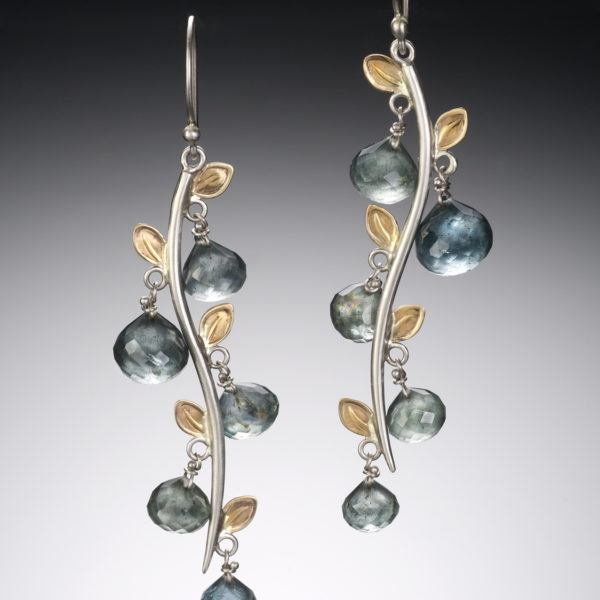 NISA Jewelry Saltwater Leaf Earrings
