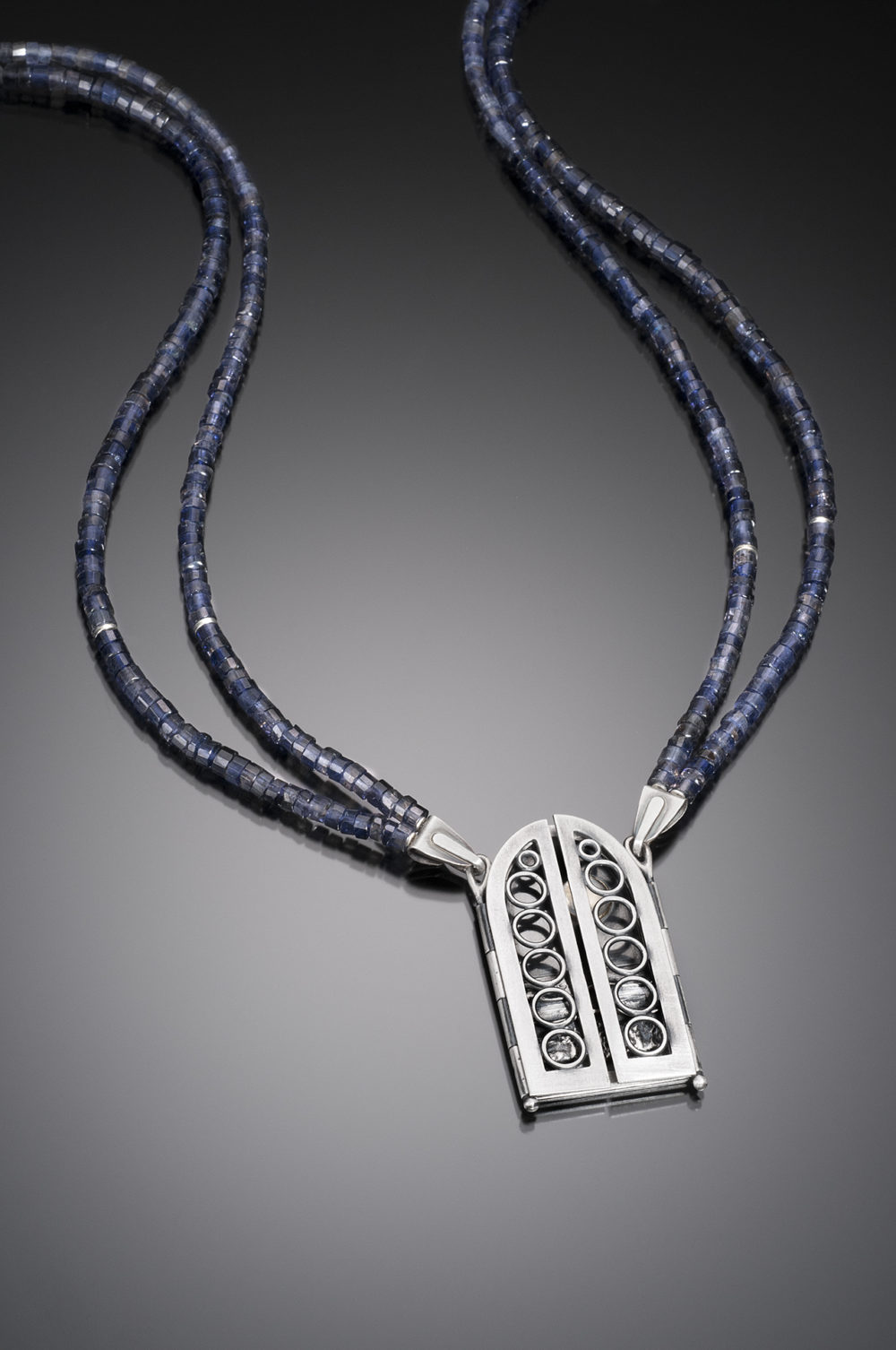 NISA Jewelry Moonlit Ocean Necklace, closed