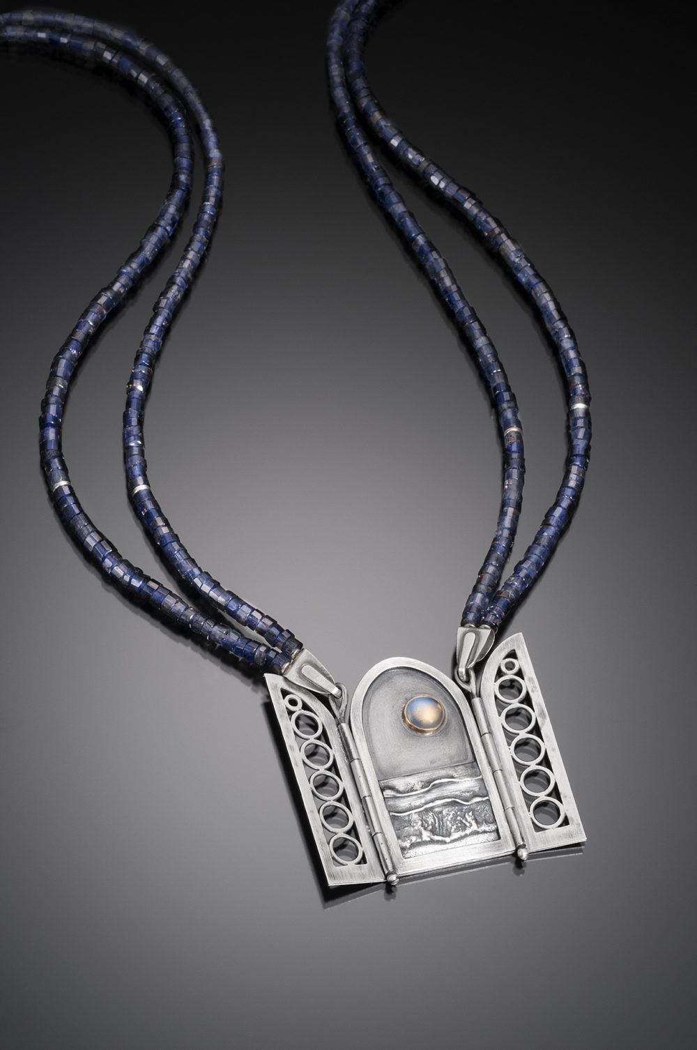 NISA Jewelry Moonlit Ocean Necklace, open